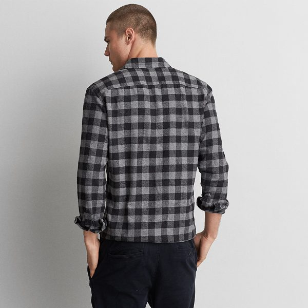 Rugged Flannel Shirt Full Button Front 100% Cotton
