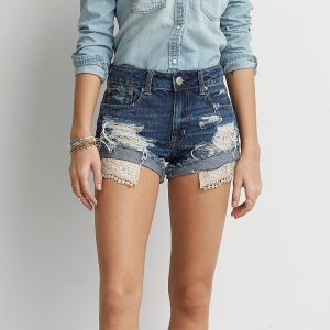 Hi-rise Festival Shortie With Relaxed Frayed Hem