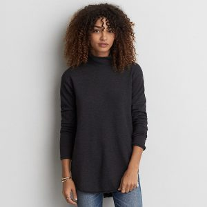 Turtleneck Jegging Fleece Sweatshirt Relaxed, Flattering Fit