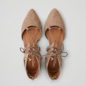 D'orsay Lace-up Flat Strappy Lace-up Silhouette